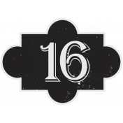 In the Pocket Number Tag- 16