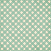 Spring Day Collab- March Winds Green Gingham Paper