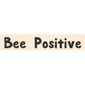 Spring Day Collab- March Winds Word Art Bee Positive