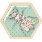 Spring Day Collab- March Winds Hexagon Tag Bee