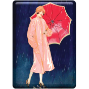 Spring Day Collab- April Showers Woman Holding Umbrella Tag