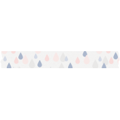 Spring Day Collab- April Showers Raindrops Washi Tape