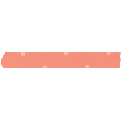 Spring Day Collab- May Flowers Peach Washi Tape