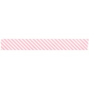 Spring Day Collab- May Flowers Pink Stripe Washi Tape