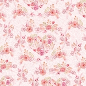 Spring Day Collab- May Flowers Pink Floral Paper