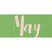 Spring Day Collab- May Flowers May Word Art