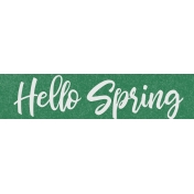 Spring Day Collab- May Flowers Hello Spring Word Art