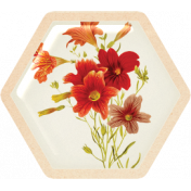 Spring Day Collab- May Flowers Flowers Hexagon Tag