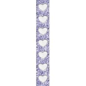 Raindrops and Rainbows Watercolor Fantasy List Strip Purple