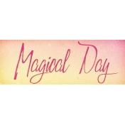 Raindrops and Rainbows Watercolor Fantasy Magical Day Word Art