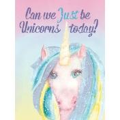 Raindrops and Rainbows Watercolor Fantasy Just be Unicorns JC 3x4