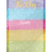 Raindrops and Rainbows Watercolor Fantasy This Day JC 3x4