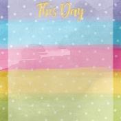 Raindrops and Rainbows Watercolor Fantasy This Day JC 4x4