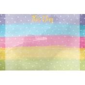 Raindrops and Rainbows Watercolor Fantasy This Day JC 4x6