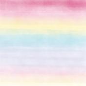 Raindrops and Rainbows Watercolor Fantasy Watercolor Stripes