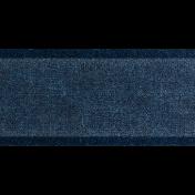 Into the Woods- Dark Blue Ombre Velvet Ribbon