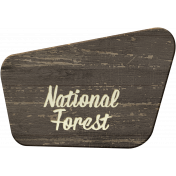 Into the Woods- National Forest Sign