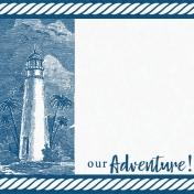 Destination Florida Beach Journal Card- Lighthouse 2x2