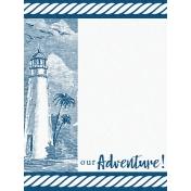 Destination Florida Beach Journal Card- Lighthouse 3x4