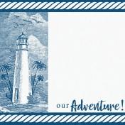 Destination Florida Beach Journal Card- Lighthouse 4x4
