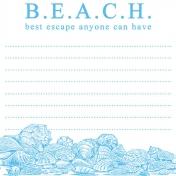 Destination Florida Beach Journal Card- Beach 2x2