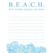 Destination Florida Beach Journal Card- Beach 3x4