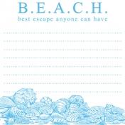 Destination Florida Beach Journal Card- Beach 4x4