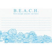 Destination Florida Beach Journal Card- Beach 4x6