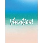 Destination Florida Beach Journal Card- Vacation 3x4