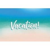 Destination Florida Beach Journal Card - Vacation 4x6