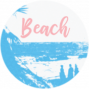 Destination Florida Beach Round Beach Tag