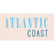 Destination Florida Beach Atlantic Coast Word Art