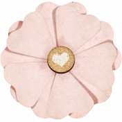 Family Day Flower with Cork Heart Stamped Center