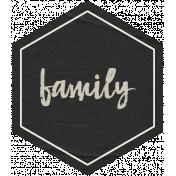 Family Day Family Hexagon Tag
