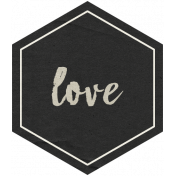 Family Day Love Hexagon Tag