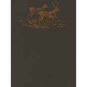 Into the Woods- Deer Journal Card 3x4