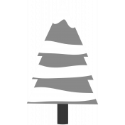 Winter Day Template- Tree With Snow