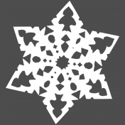Winter Day Template- Snowflake 03