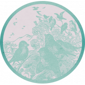 Garden Tales Mini Kit- Birds Round Tag