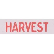 Garden Tales Mini Kit- Harvest Word Art