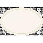 Garden Tales Elements- Green Oval Label