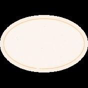 Garden Tales Elements- Orange Oval Label
