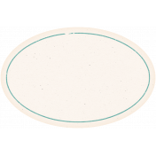 Garden Tales Elements- Teal Oval Label