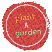 Garden Tales Elements- Plant a Garden Burlap Tag