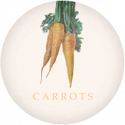 Garden Tales Elements- Carrots Round Tag