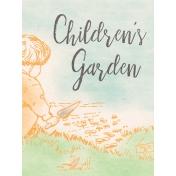 Garden Tales Journal Cards- Children's Garden 3x4