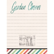 Garden Tales Journal Cards- Garden Chores 3x4