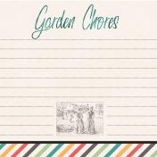 Garden Tales Journal Cards- Garden Chores 4x4