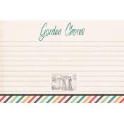 Garden Tales Journal Cards- Garden Chores 4x6