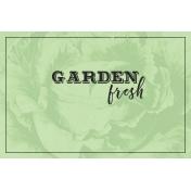 Garden Tales Journal Cards- Garden Fresh 4x6